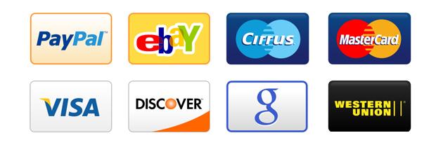 18 iconos de tarjetas de crédito