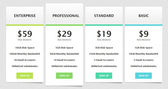 15 tablas de precios en html y css3 blog reacci n estudio for Basic html table template