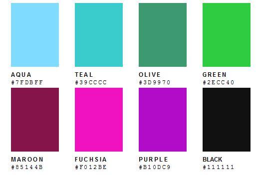 Páginas web con cientos de colores para elegir : Blog
